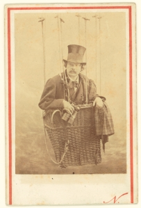 Felix Nadar in Gondola of a Balloon. Nadar (Gaspard-Félix Tournachon) [French, 1820 - 1910], about 1863. Digital image courtesy of the Getty's Open Content Program.