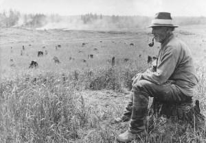 Maaningan Savolan vanha kaskimies. Ahti Rytkösen valokuva 1920-luvulta.